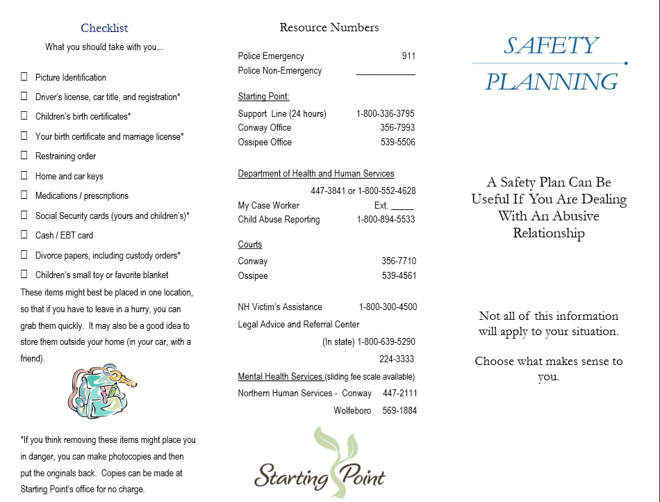 Safety Plan – Starting Point